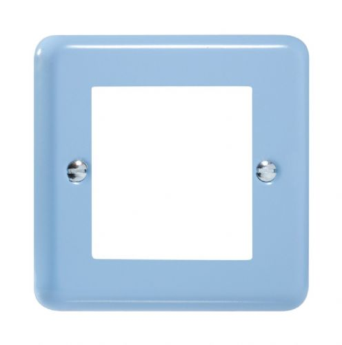 Varilight XYG2.DB Lily Pastel Duck Egg Blue DataGrid Plate (2 DataGrid Spaces)